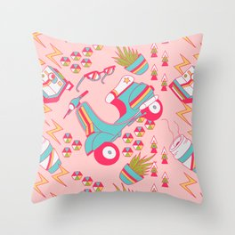 Hipster Afternoon Throw Pillow