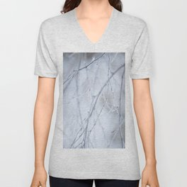Frozen Twigs in Beautiful Winter Day #society6 Unisex V-Neck