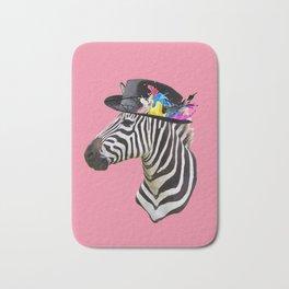 Crazy Zebra Bath Mat
