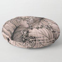 Banana Leaves Glitter Glam #3 #shiny #tropical #decor #art #society6 Floor Pillow