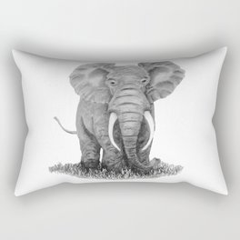 Elephant illustration - Keep Wildlife In The Wild Rectangular Pillow