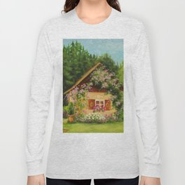 Tiny Cottage House Long Sleeve T-shirt