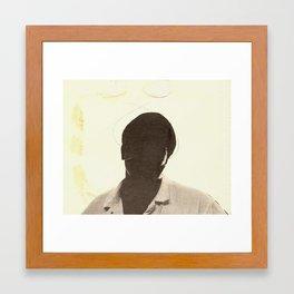 Silhouette Of A Man Framed Art Print