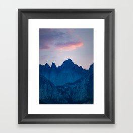 Mt. Whitney Framed Art Print