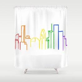 Houston Pride Shower Curtain
