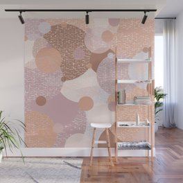 Earth Pastel Bubbles Wall Mural