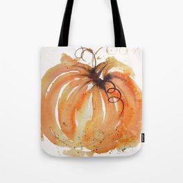 Abstract Watercolor Pumpkin Tote Bag