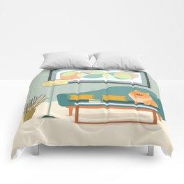 A Pomeranian Makes A House A Home Comforters