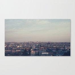 Parisian Rooftop Vista Canvas Print