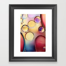 Colourful Oil Drops Framed Art Print