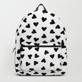 Tiny hand drawn black hearts Backpack