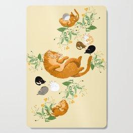 Sleeping cats family Cutting Board