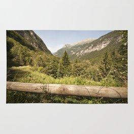 A mountain landscape Rug
