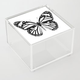 Monarch Butterfly | Vintage Butterfly | Black and White | Acrylic Box