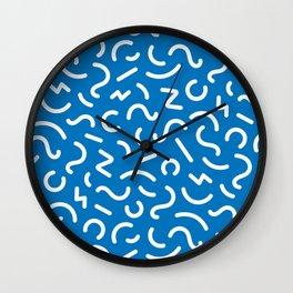 Confetti (Blue) - pattern Wall Clock