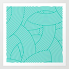 New Weave in Aqua Teal Art Print
