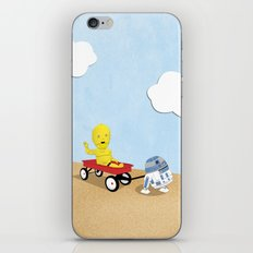 SW Kids - C3PO & R2D2 Red Wagon iPhone & iPod Skin