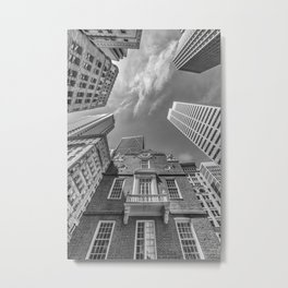 BOSTON Old State House | Monochrom Metal Print
