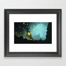 Cave creature Framed Art Print