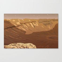 Schiparelli Crater Canvas Print