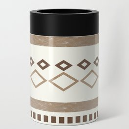 Western Pattern, Out West, Patterns, Brown, Tan, Beige, Shapes, Geometric Western Art Can Cooler