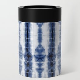 Tiki Shibori Blue Can Cooler