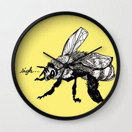 plight of the honeybee Wall Clock