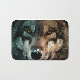Animal Art - Wolf Bath Mat