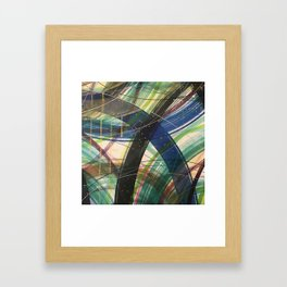 Green Leap Framed Art Print