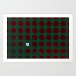 One dot doesn't conform to the norm! Be different! Stand out! Rebel! Art Print