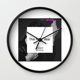Bowie : The New Year Wall Clock