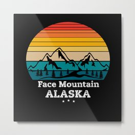 Face Mountain Alaska Metal Print