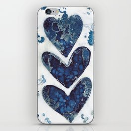 Three hearts are better than two. iPhone Skin