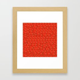 Tomato Pattern Framed Art Print