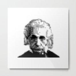 Pixel Einstein Metal Print
