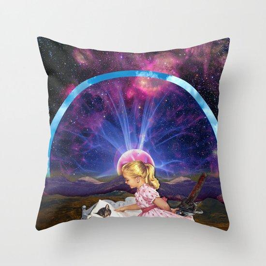 Kitty Litter Throw Pillow