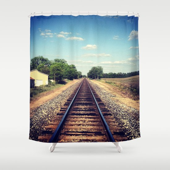 Railroad Tracks Shower Curtain