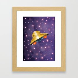 UFO in the Universe Framed Art Print