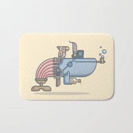 Pirate Whale Bath Mat
