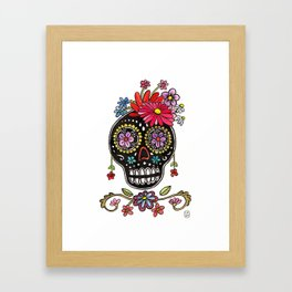 Calaca Fridita Framed Art Print