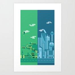 Foreign Cities Art Print