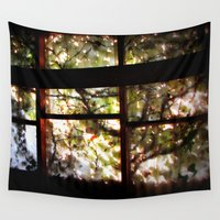 window Wall Tapestries featuring Window by Andrew C. Kurcan