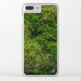 Speckled Moss Clear iPhone Case