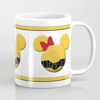 c3po Mugs featuring C3PO Mouse  by Miranda Copeland