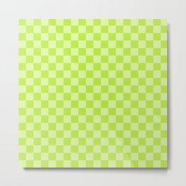 Citrus Checkerboard Metal Print