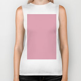 Pantone Sea Pink 15-1912 Solid Color Biker Tank