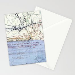 Vintage Map of The Omaha Beach Landings (1944) Stationery Cards