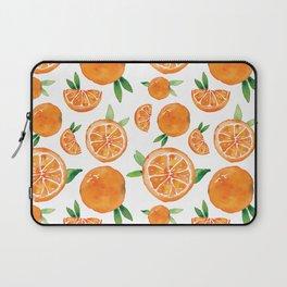 Zesty Orange Pattern Laptop Sleeve