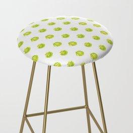 Lime Green Polka Dots Bar Stool
