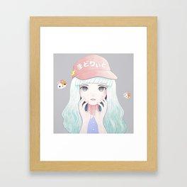 Zazi-White Framed Art Print